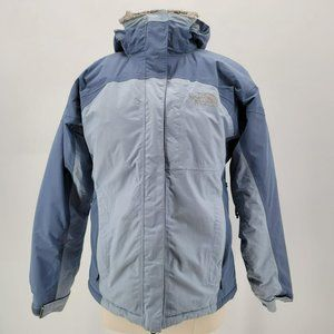 The North Face HyVent Blue Furry Fleece Lined Coat